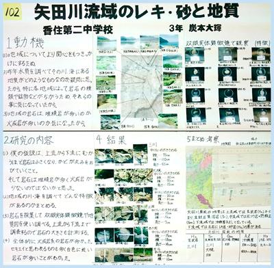 矢田川流域のレキ・砂と地質