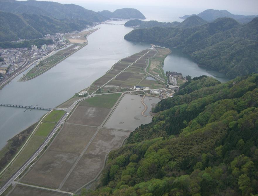 円山川下流及び周辺水田のラムサール登録湿地周辺