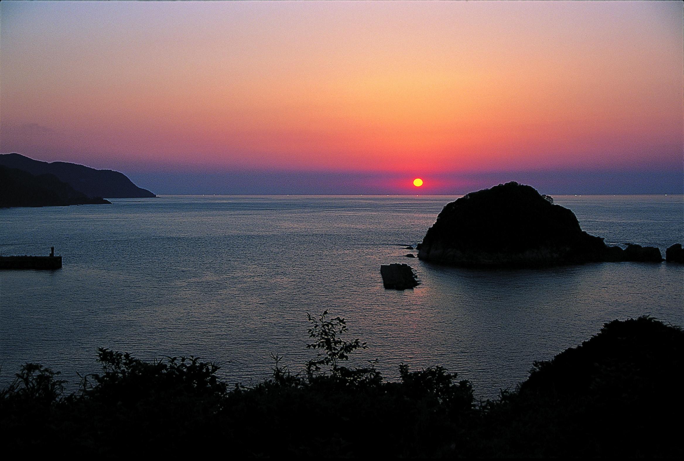 今子浦(夕陽)
