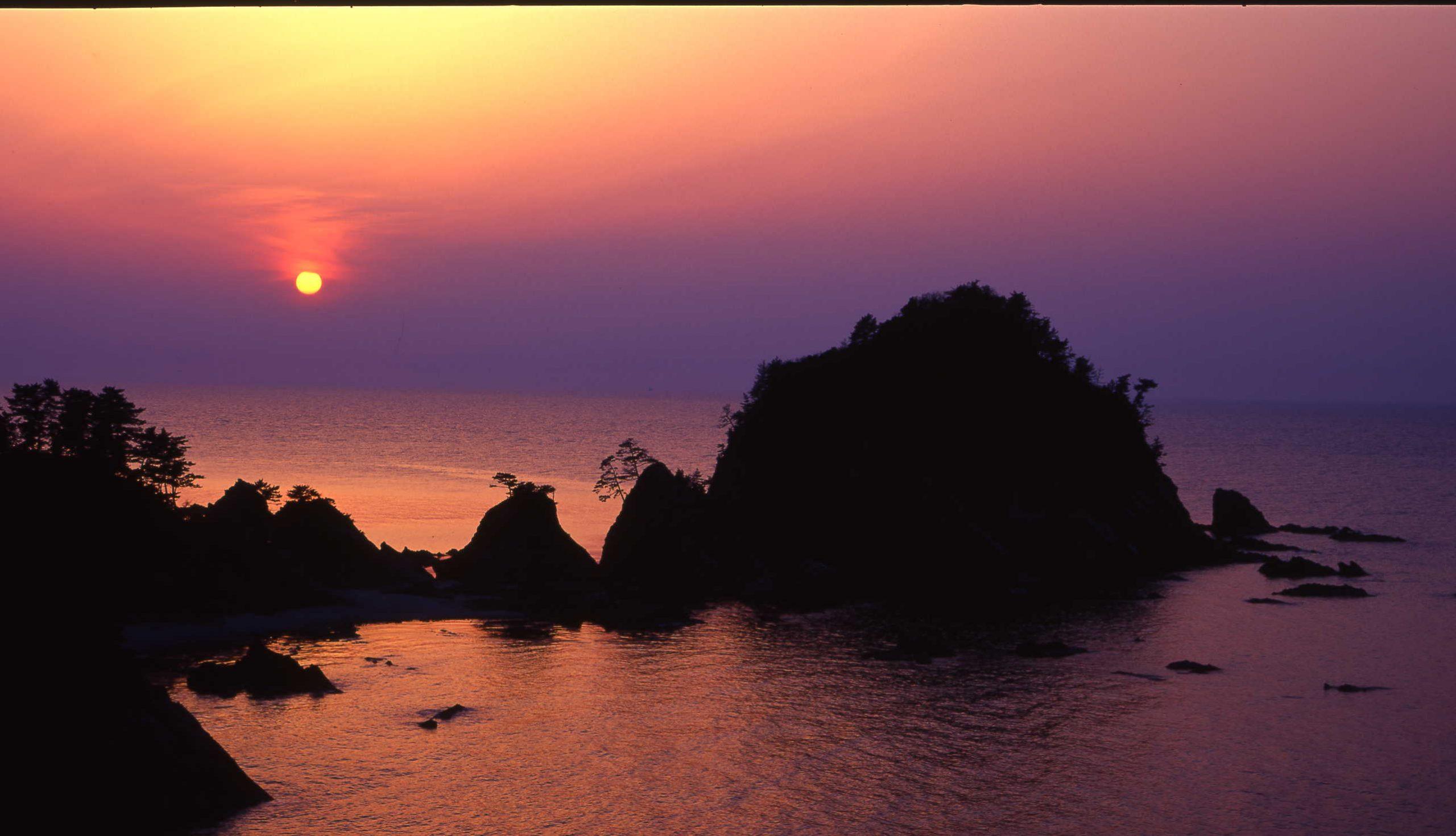 菜種五島(夕陽)
