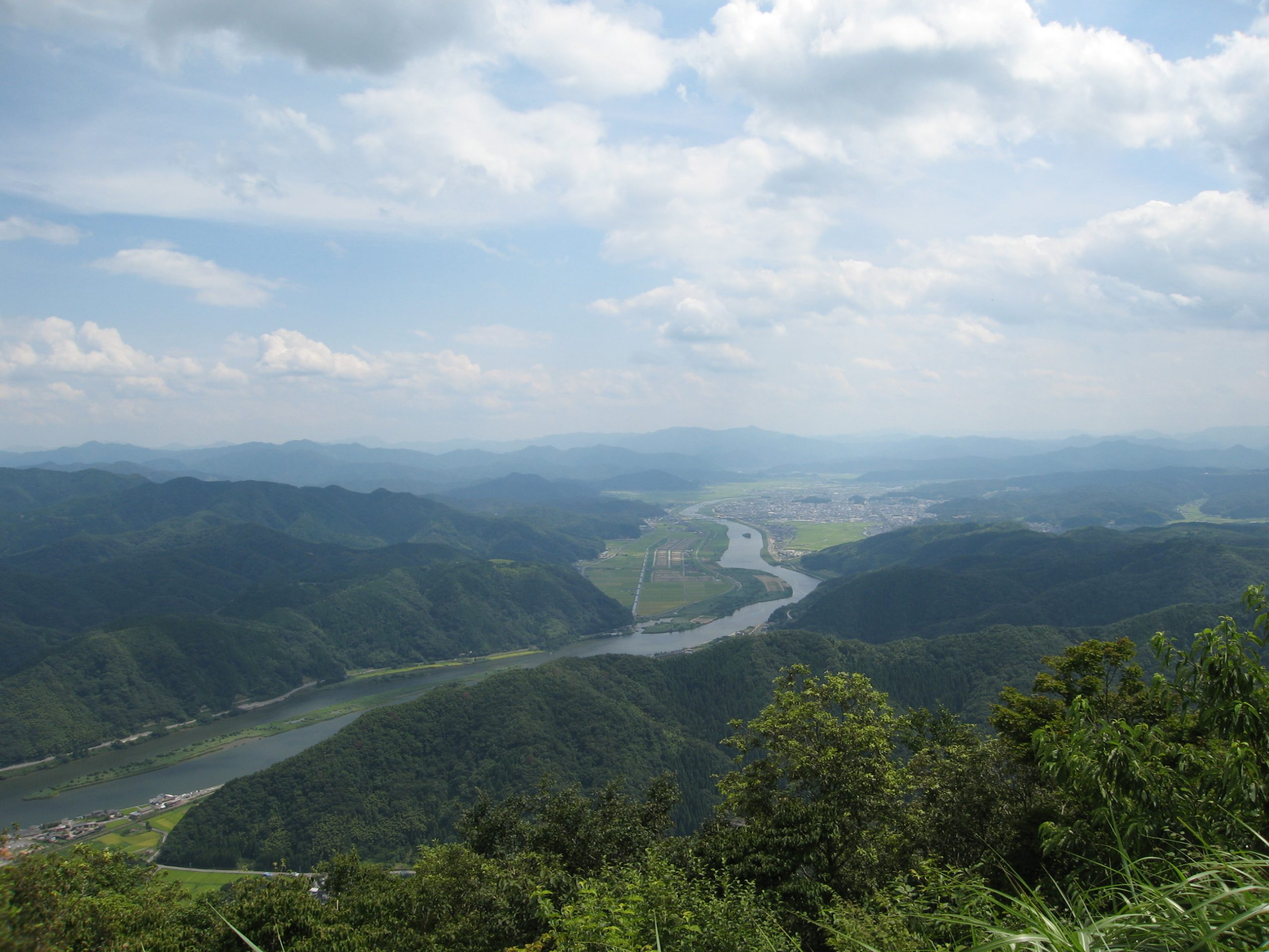 豊岡盆地(来日岳より)