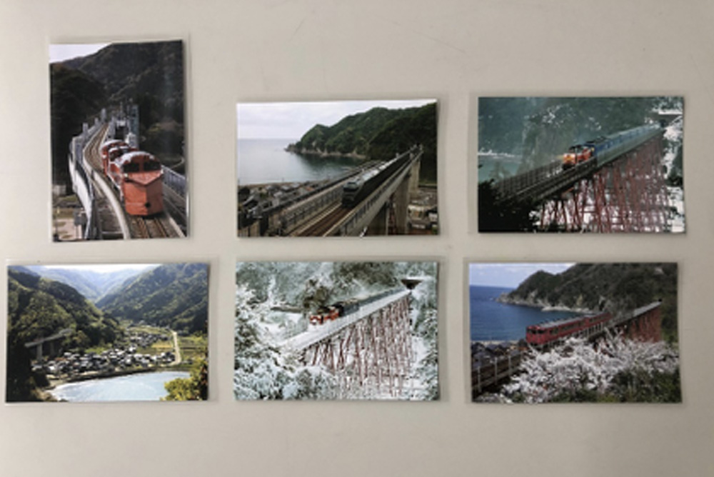余部鉄橋の写真ハガキ